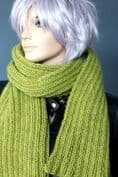 Apple Green Chunky Knit scarf